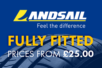 Tyres special offer from £25 fully fitted